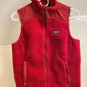 Red Patagonia Sherpa Vest